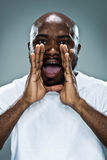 Young Black Man Shouting Royalty Free Stock Photos