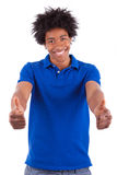 Young black teenage men showing thumbs up - African people Royalty Free Stock Photo