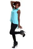 Young black woman being silly Stock Images