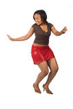 Young black woman dancing Stock Photos