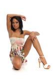 Young Black Woman Fashion Model Stock Photo