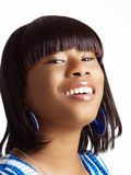 Young black woman with head tilted back Royalty Free Stock Photo