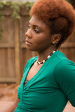 Young Black Woman Outside Stock Image