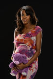 Young Black Woman Pregnant Royalty Free Stock Photo