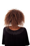 Young black woman seen from behind Royalty Free Stock Image