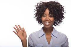 Young black woman smile face portrait Stock Images