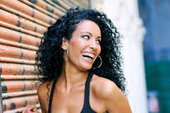 Young Black Woman Smiling With Braces Royalty Free Stock Photo