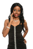 Young black woman wearing jewelry Royalty Free Stock Photography