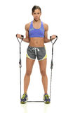 Young black woman working out Stock Photography