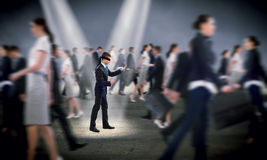 Young blindfolded man Royalty Free Stock Images