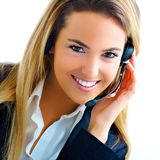 Young blond assistant stock photography