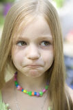 Young blond astonishing girl. Portrait of young blond astonishing girl Stock Photography
