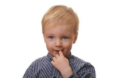 Young blond boy Stock Photos
