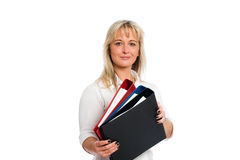 Young blond business woman Stock Image