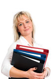Young blond business woman Stock Photo