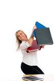 Young blond business woman Royalty Free Stock Photo