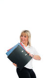 Young blond business woman Royalty Free Stock Photos