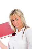 Young blond business woman Stock Photography