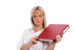 Young blond business woman Stock Photos