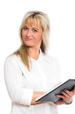 Young blond businesswoman is Stock Photography