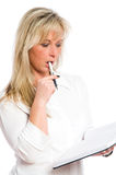 Young blond businesswoman is Stock Image