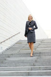 A young blond businesswoman in formal clothes Royalty Free Stock Photography