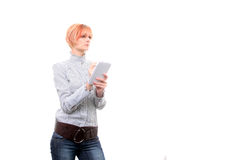 Young blond businesswoman working Royalty Free Stock Photography