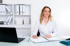 Young blond businesswoman Stock Photo