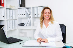 Young blond businesswoman Royalty Free Stock Image
