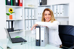 Young blond businesswoman Royalty Free Stock Photo