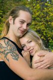 Young blond couple Royalty Free Stock Image
