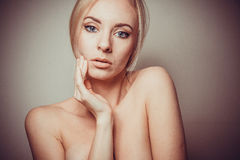 Young blond detox concept Royalty Free Stock Image