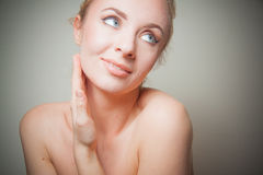 Young blond detox concept Royalty Free Stock Images