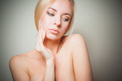 Young blond detox concept Stock Images