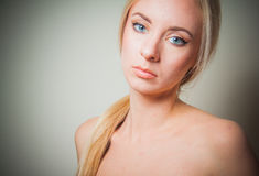 Young blond detox concept Royalty Free Stock Photography