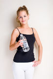 Young blond fitness woman. Stock Image