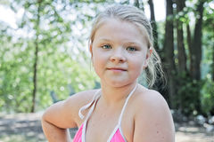Young blond girl Stock Images