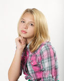 Young blond girl Royalty Free Stock Photo