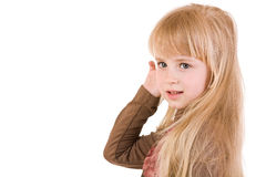 Young blond girl Stock Image