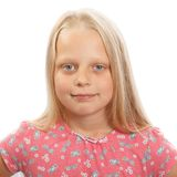 Young blond girl Royalty Free Stock Images