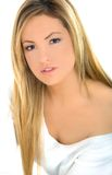 Young blond girl portrait. Young blond girl with a sexy look Stock Image