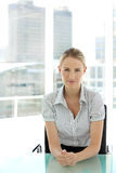 Young blond hair businesswoman Royalty Free Stock Photography