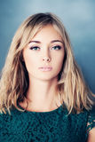 Young Blond Hair Woman. Young Beauty. Fashion Portrait Royalty Free Stock Image