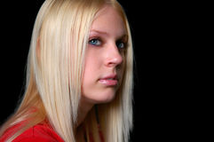 Young blond haired girl Royalty Free Stock Images