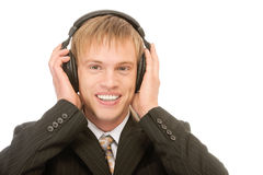 Young blond man Stock Image