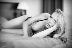 Young blond sexy woman Royalty Free Stock Photo