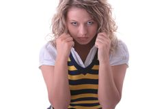 Young blond student girl Stock Images