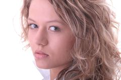 Young blond student girl Stock Photography