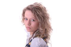 Young blond student girl Royalty Free Stock Photo