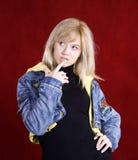 Young blond teenage girl Stock Photos